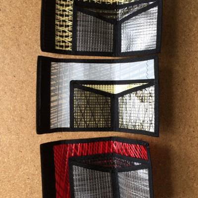 Sailcloth wallets inside