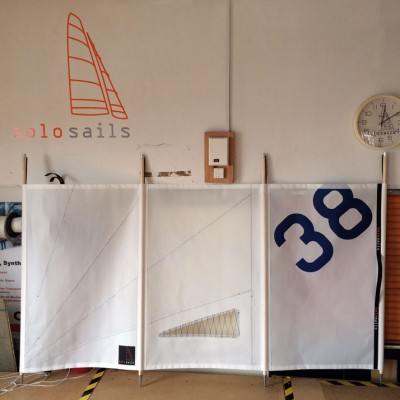 3 Panel Sailcloth windbreak in white