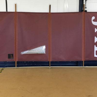 4 Panel Tan Windbreak