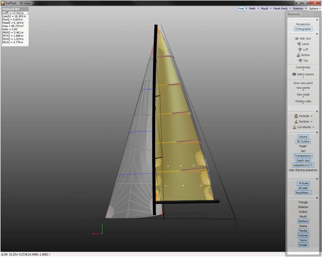 IRC Mainsail Design Service
