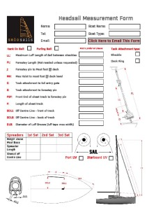 Headsail Measurement Form