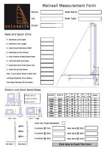 Mainsail Measurement Form